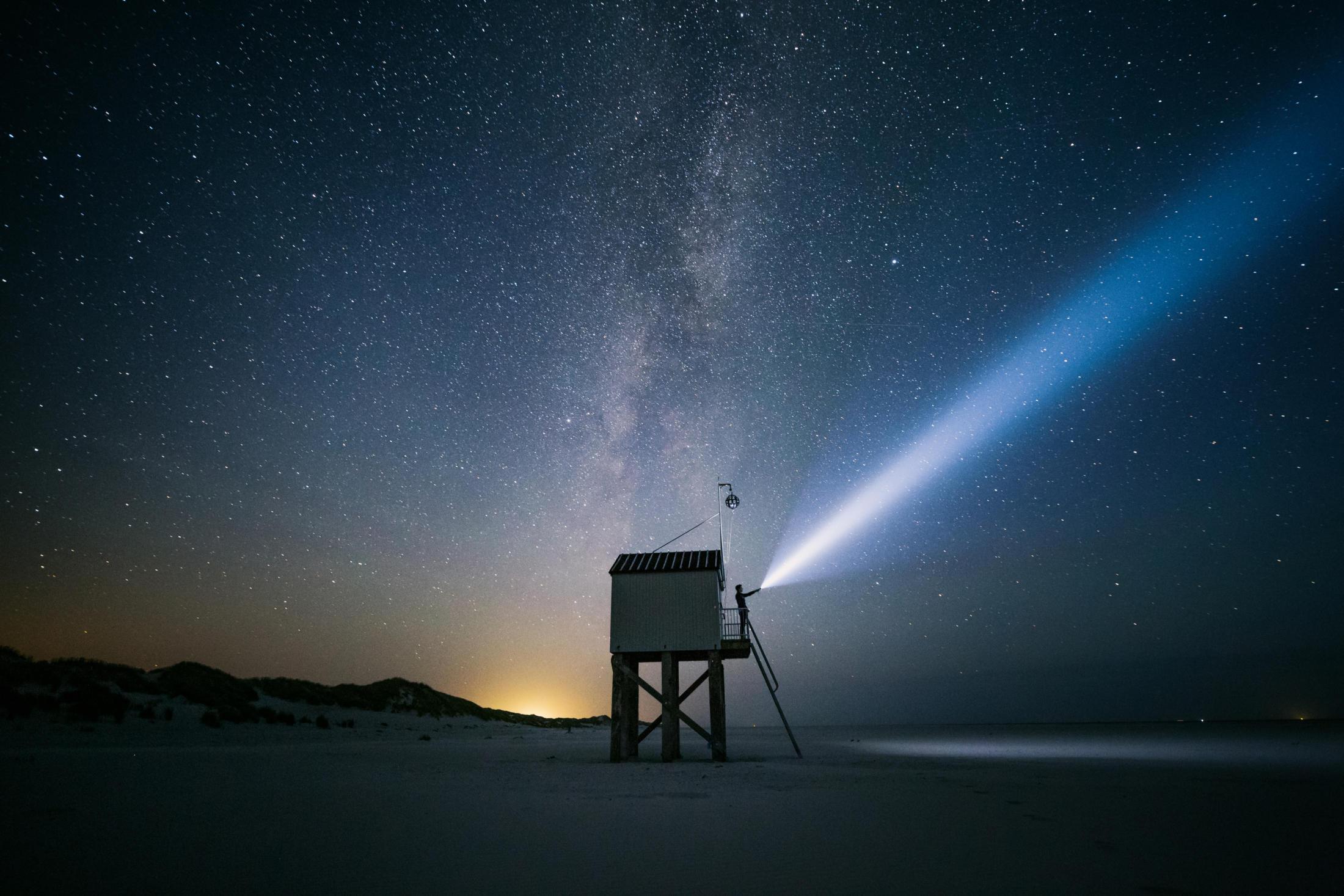 drenkelinghuis and starry sky